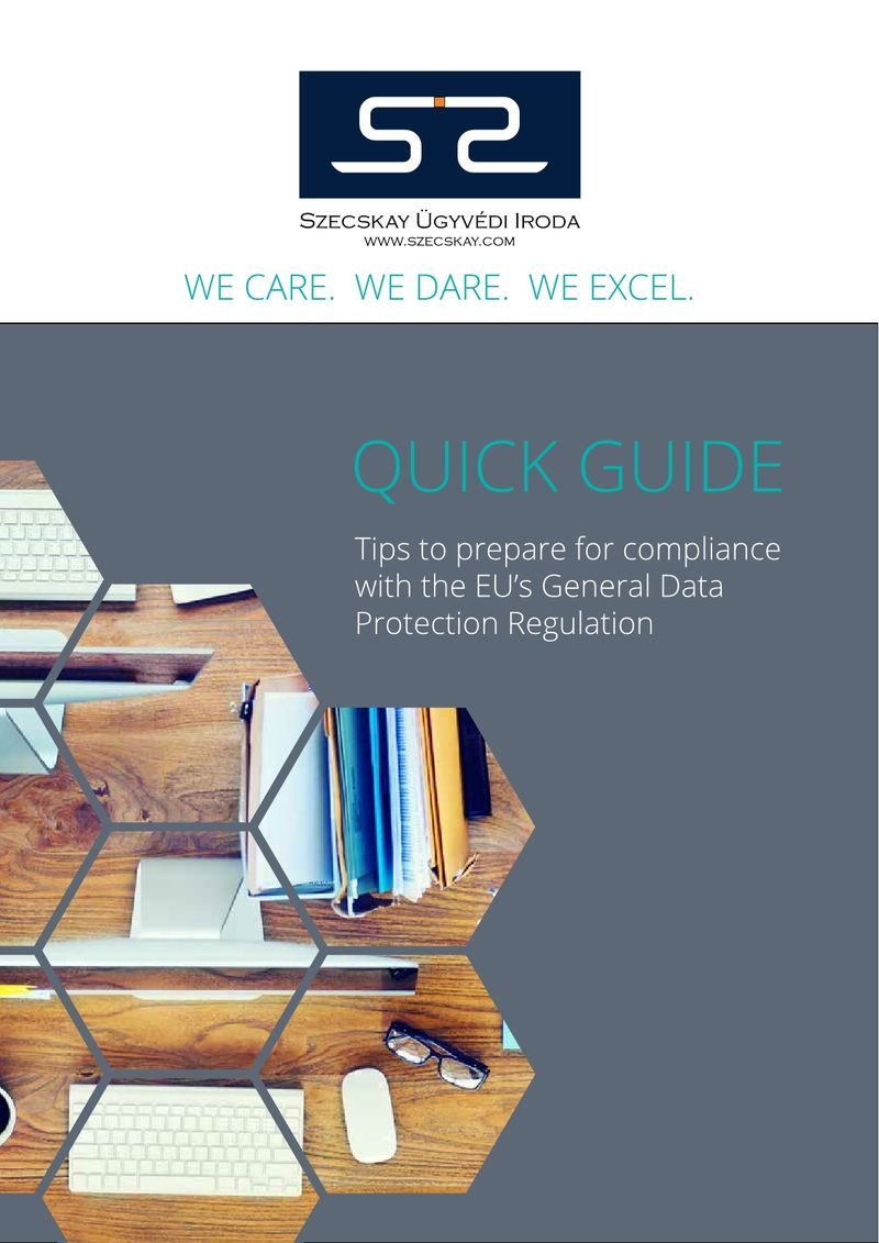 GDPR QUICK GUIDE